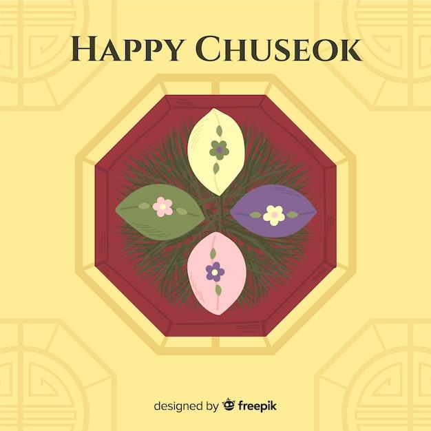 Hand drawn happy chuseok background Free Vector