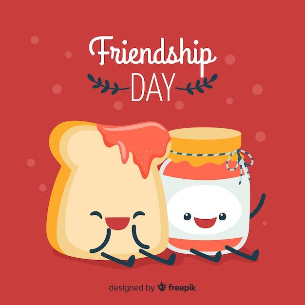 Hand drawn happy friendship day Free Vector