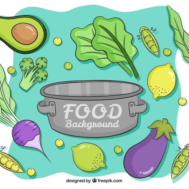 Hand Drawn Healthy Food Background Stock Images Page Everypixel