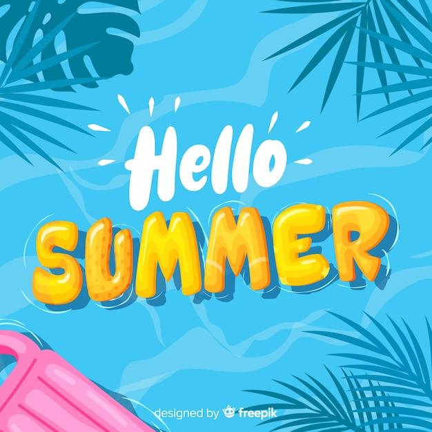 Free Vector | Hand drawn hello summer background