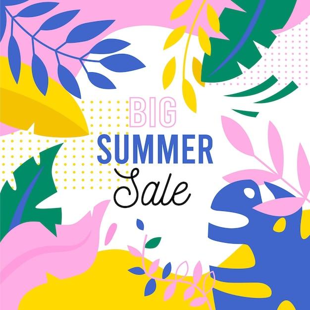 Рисованной привет летняя распродажа баннер Бесплатные векторы
