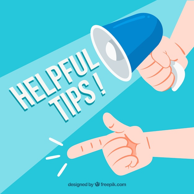 Hand drawn helpful tips concept Free Vector