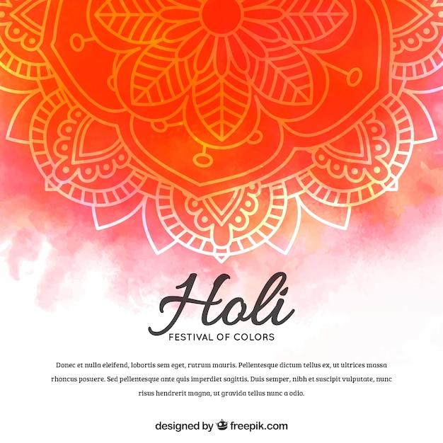 Hand drawn holi festival background Free Vector