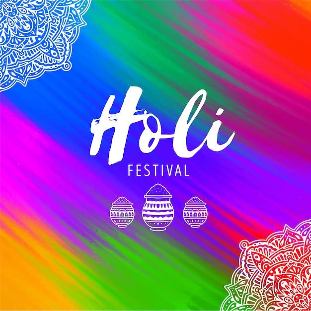 Фестиваль рисованной холи Бесплатные векторы