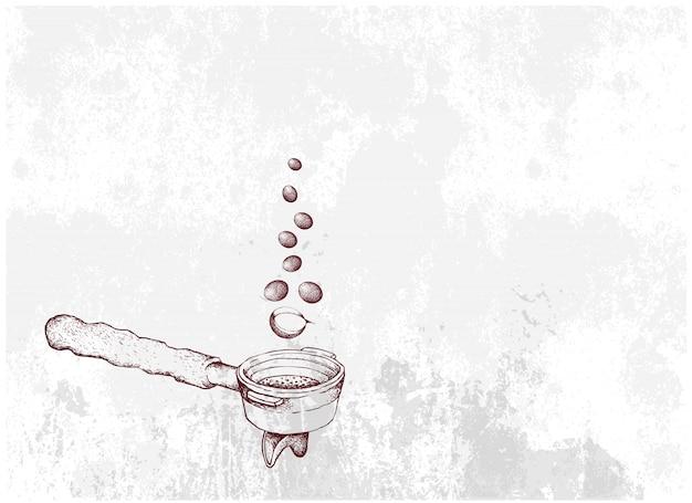 premium vector hand drawn of hot coffee with portafilter https www freepik com profile preagreement getstarted 8038805