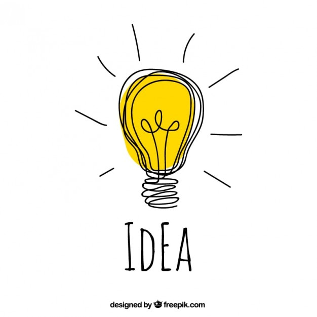 Hand drawn idea concept Free Vector. Hand drawn idea concept Vector   Free Download