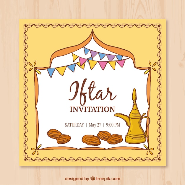 Hand drawn iftar invitation vector free download hand drawn iftar invitation free vector stopboris Images