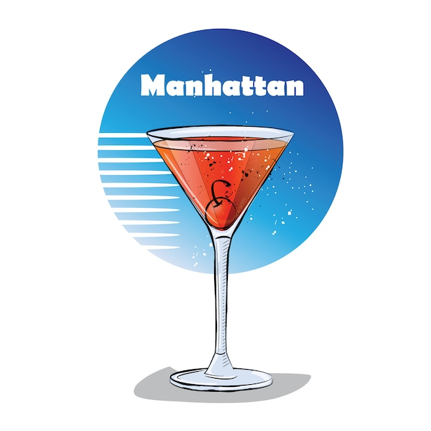 Free Manhattan Cocktail Vectors 30 Images In Ai Eps Format