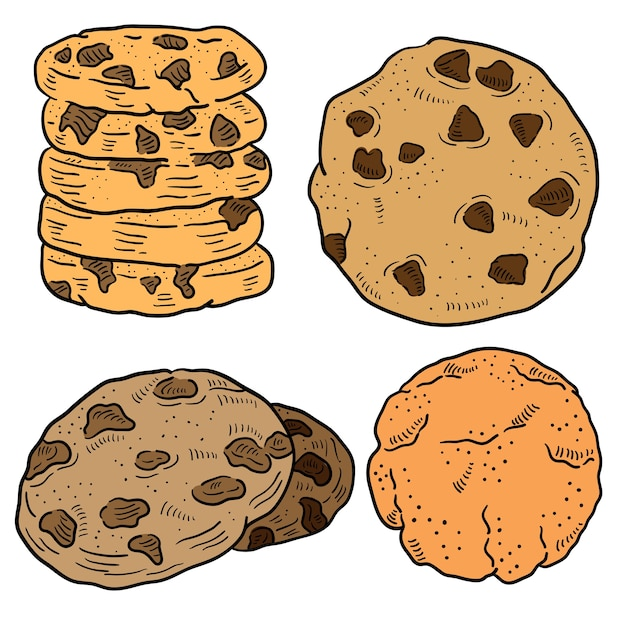 Hand drawn illustration of cookie. Premium Vector