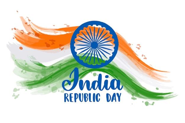 Hand drawn indian republic day Premium Vector