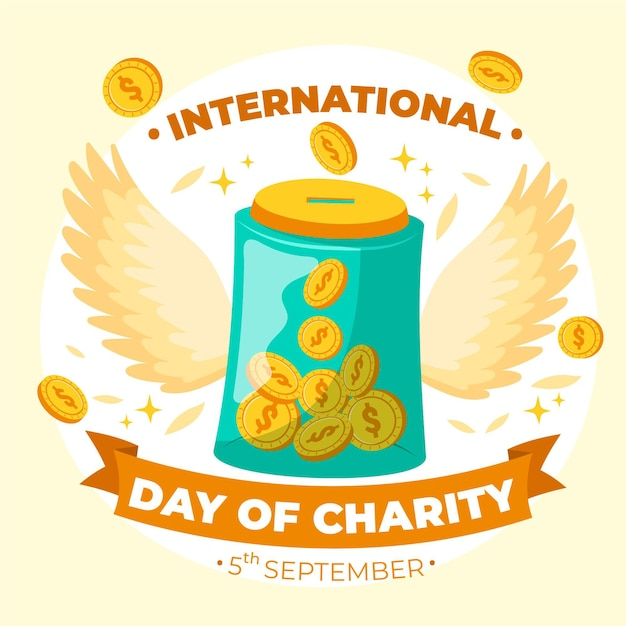 Hand drawn international day of charity Free Vector