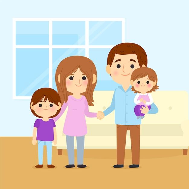 Ручной обращается международный день семей Бесплатные векторы
