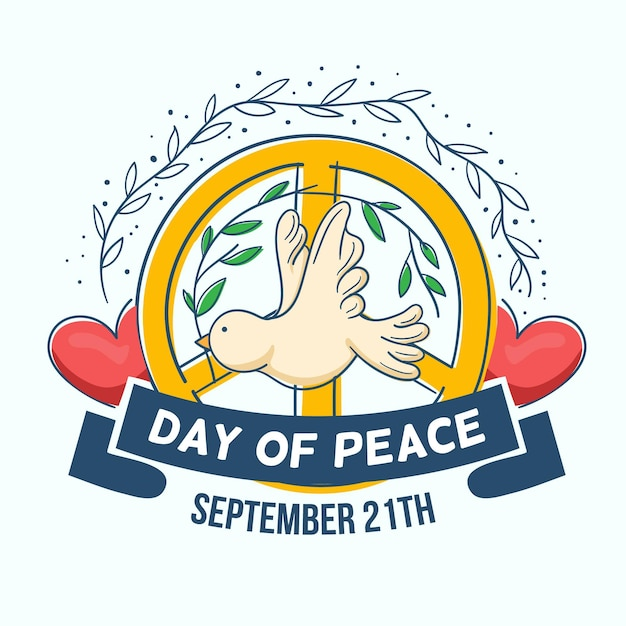 Hand drawn international day of peace Free Vector
