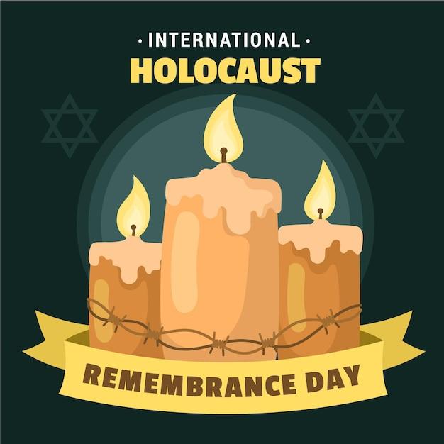 Giorno della memoria dell'olocausto internazionale disegnato a mano Vettore gratuito