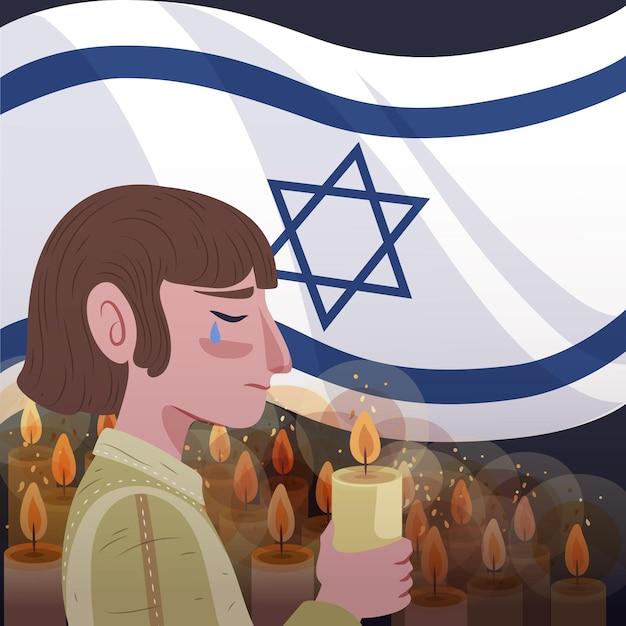 Ручной обращается международный день памяти жертв холокоста Бесплатные векторы