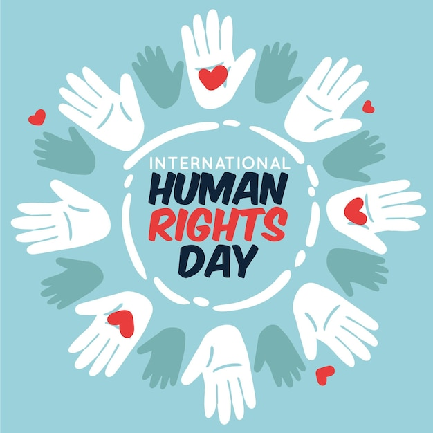 Hand drawn international human rights day Premium Vector