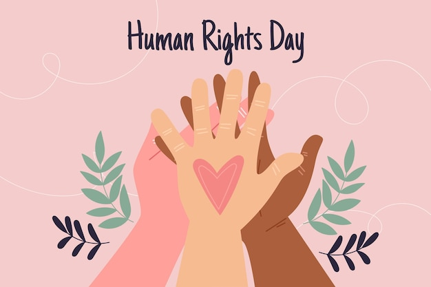 Hand drawn international human rights day Premium Vector