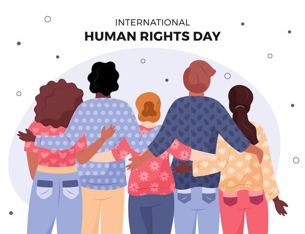 Giornata internazionale dei diritti umani disegnata a mano Vettore gratuito