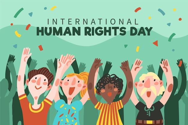 Hand drawn international human rights day Free Vector