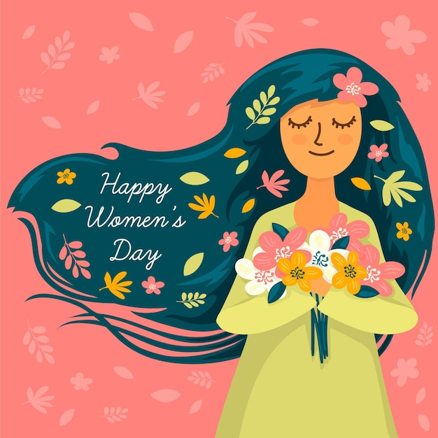 Hand drawn international women's day illustration Free Vector