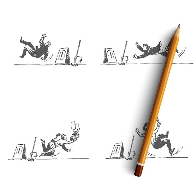 Нарисованная рукой изолированная иллюстрация Premium векторы