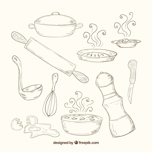 Kitchen Tools Drawings kitchen utensils drawing png image gallery - hcpr