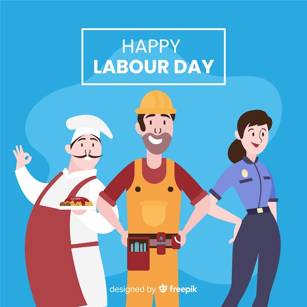 Hand drawn labour day background Free Vector
