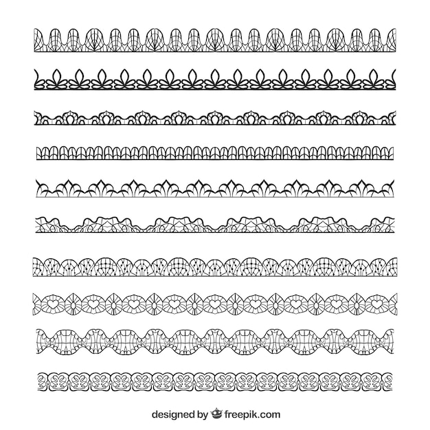 Hand drawn lace borders in vintage desing. Lace Border Vectors  Photos and PSD files   Free Download