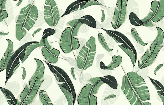 Hand drawn leaves pattern Free Vector
