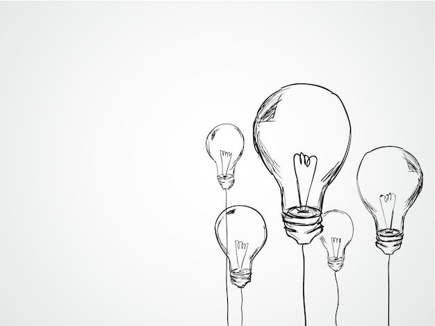 Hand drawn light bulbs vector free download for 3d drawing online no download