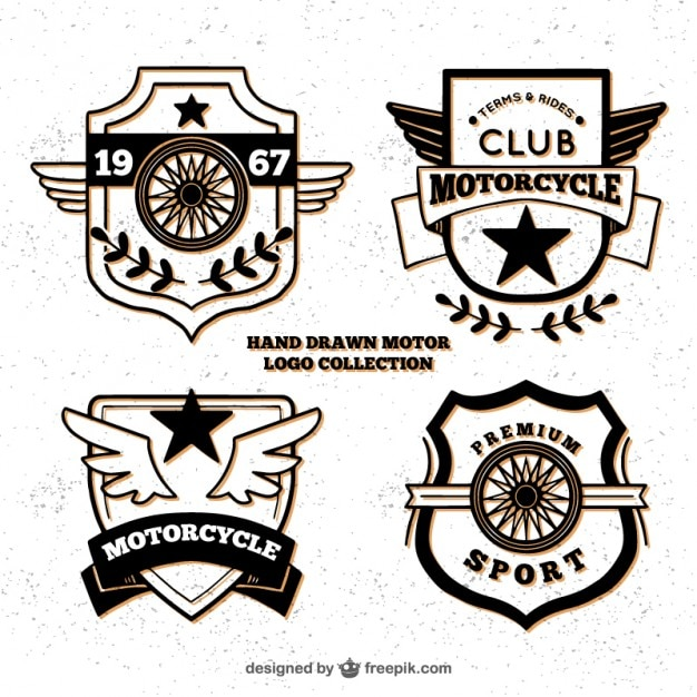 Hand drawn logos for motorcycle culb