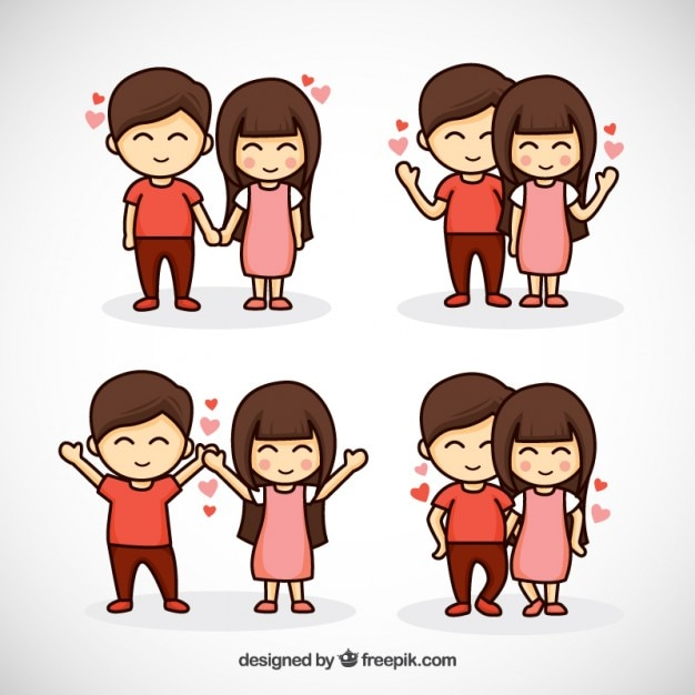 Hand drawn lovely united couple Free Vector