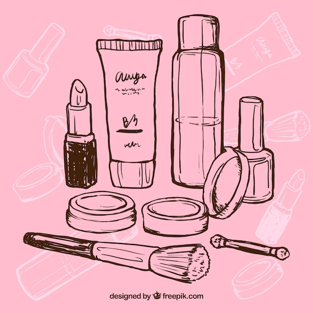 a07f53b03a9 Hand drawn makeup Vector | Free Download