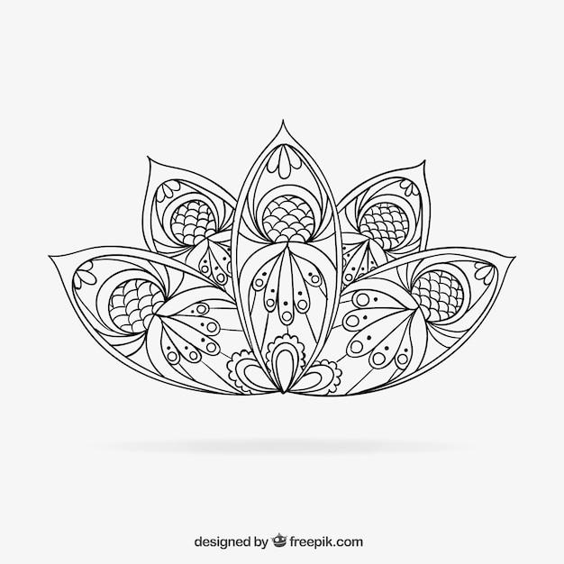 Hand drawn mandala Vector : Free Download