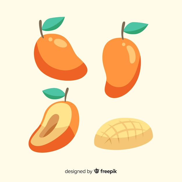 Hand drawn mango collection Free Vector