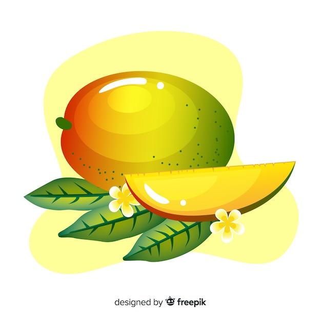 Hand drawn mango illustration Free Vector