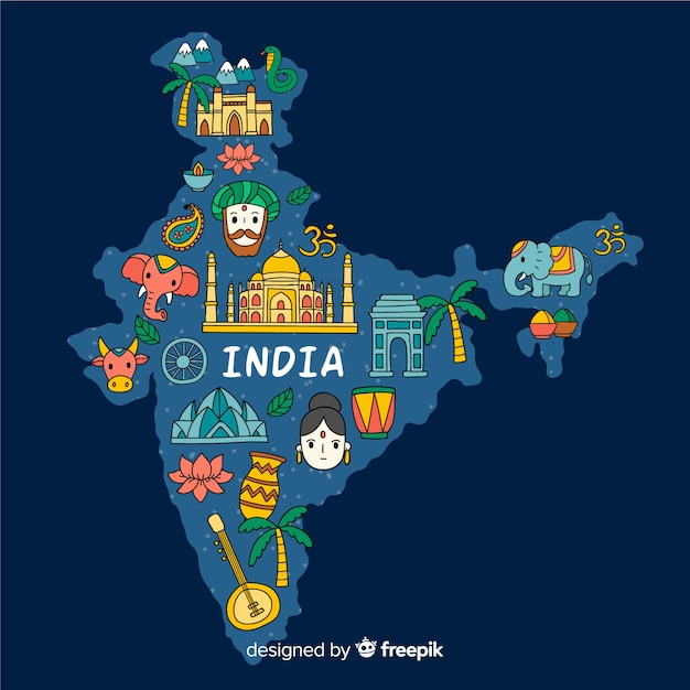 India Map Vectors Photos And Psd Files Free Download