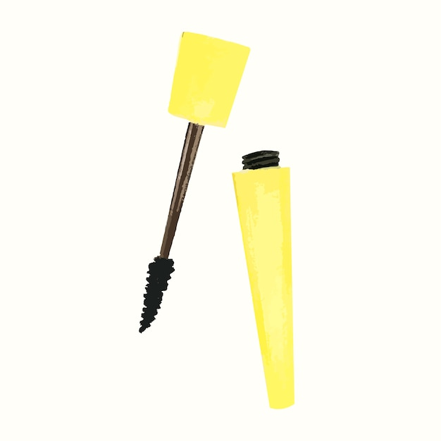 Hand drawn mascara isolated on white background Free Vector