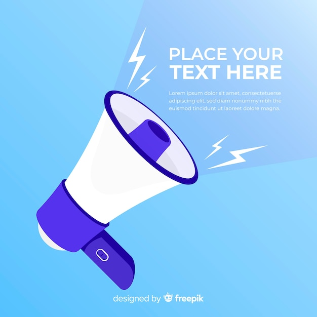 Hand drawn megaphone background Free Vector