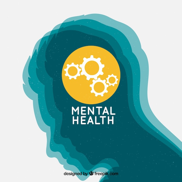 Hand drawn mental health concept Premium Vector