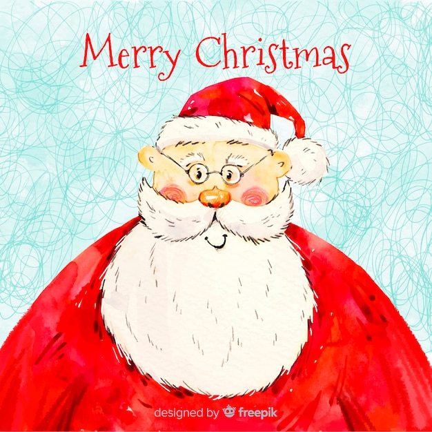 Christmas Wish.Hand Drawn Merry Christmas Wish With Santa Claus Vector