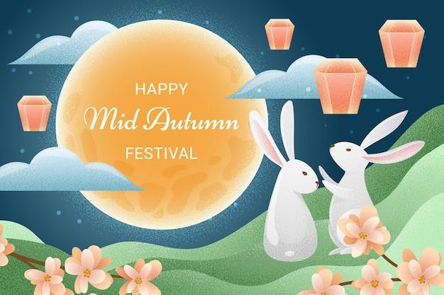 Hand drawn mid-autumn festival Free Vector