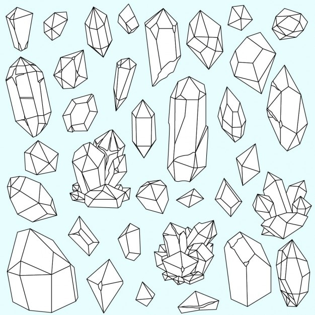 Hand drawn minerals Free Vector