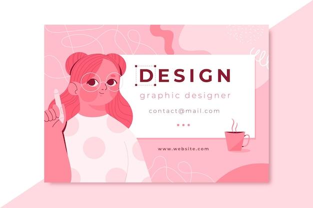 Hand drawn monocolor design card Free Vector