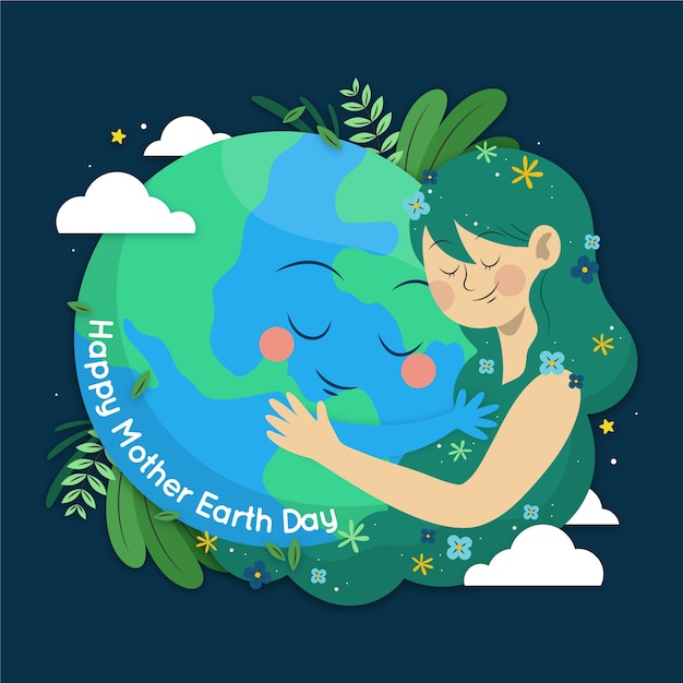 Hand-drawn mother earth day design Free Vector