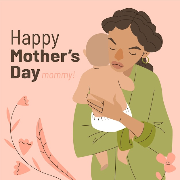 Hand drawn mother's day illustration Free Vector