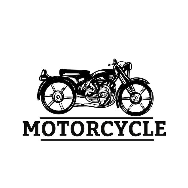 Рисованный мотоцикл Premium векторы
