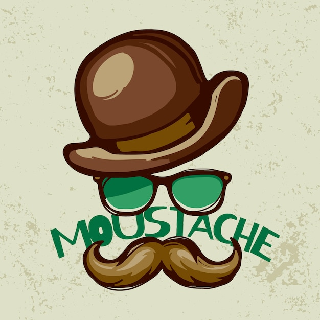 Hand drawn movember awareness background with lettering Free Vector