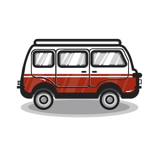 Hand drawn multi-purpose vehicle car illustration Free Vector