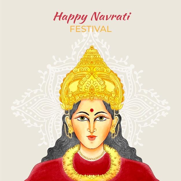Hand drawn navratri background Free Vector